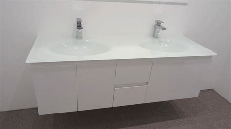 glass vanity units bathroom bathroom vanity unit glass top double cabinet set 1500mm