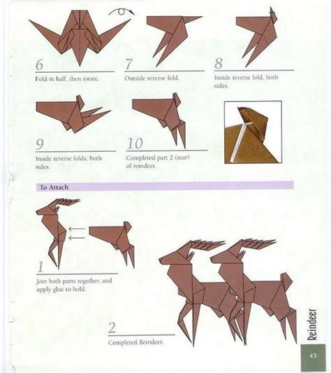 origami reindeer tutorial house handmade christmas craft ideas fold santa and