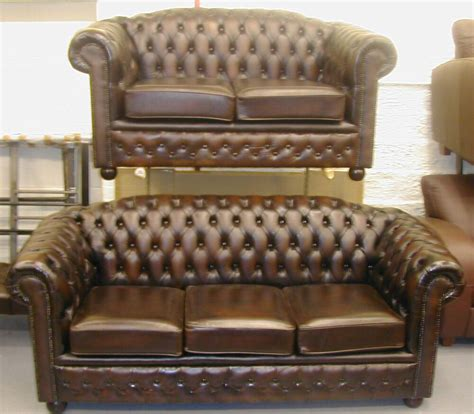Chesterfield Sofa Ebay by Chesterfield Leather Sofa Suite Brand New Sale Ebay