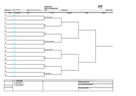 Calendario 8 Squadre Tabellone A Torneo Sociale Circolo Tennis Pontedera