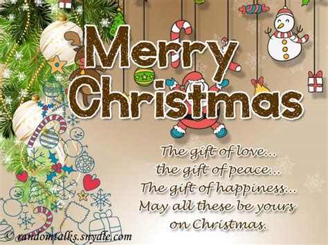 Merry Christmas And Happy New Year Gift Card - 10 free merry christmas cards and e cards random talks