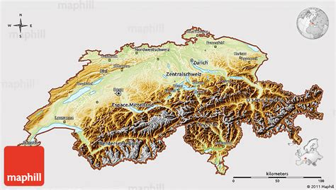 physical map of switzerland physical 3d map of switzerland cropped outside