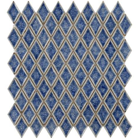 1 X2 Ceramic Tile - 12 quot x12 quot crackle azure 1 quot x2 quot handmade glass ceramic