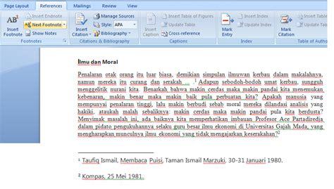 cara membuat footnote pada komputer contoh footnote di word lauras stekkie