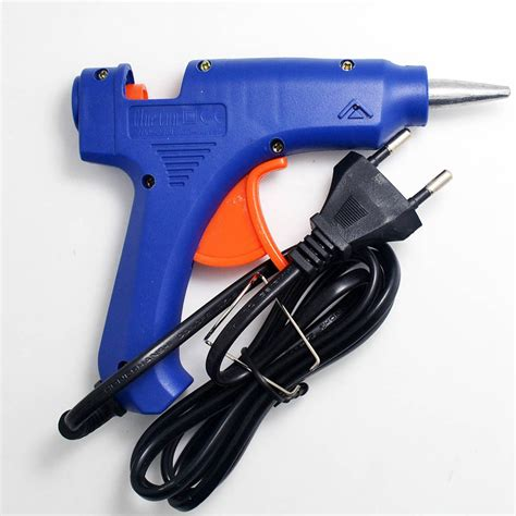 Glue Gun 20 Watt 100 240 Volt mini 20w melt glue gun for sealing wax stick 100 240v professional high temp heater glue gun