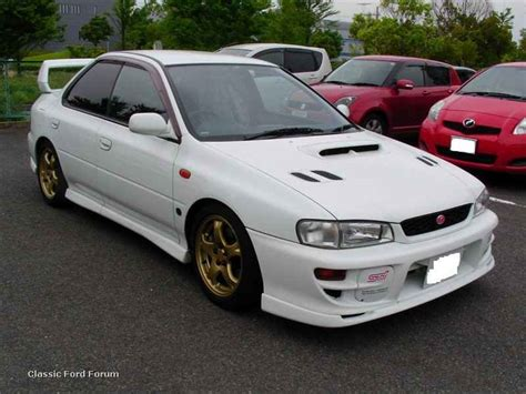 subaru gc8 white subaru impreza wrx my99 300hp racing performance works