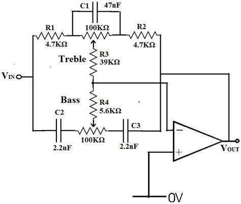 bass treble circuit diagram simple bass treble circuit diagram efcaviation