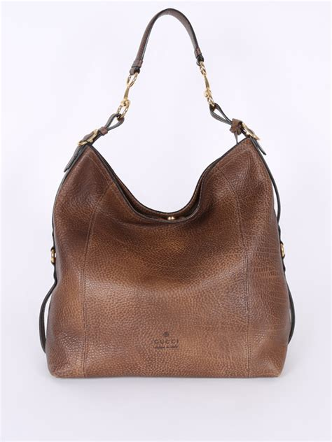 gucci harness gucci harness large leather hobo bag brown luxury bags