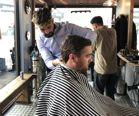 barber glasgow beard new walk in barbers opens in upcycled shipping container