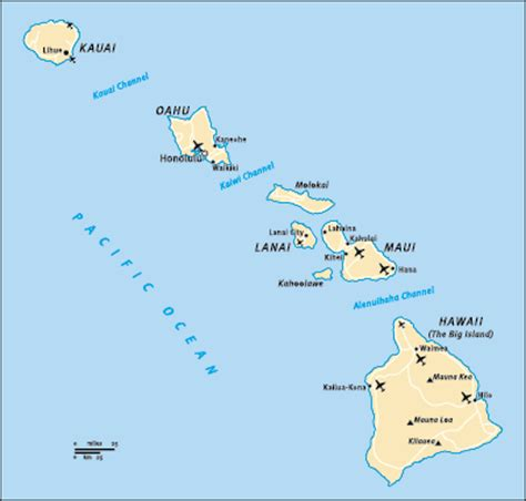 map of hawaiian islands and california the hawaii island barefoot