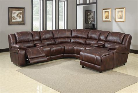 Microfiber Sectional With Recliner by Furniture Zanthe Reclining Sectional In Brown Microfiber