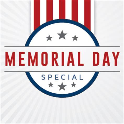 day specials memorial day specials