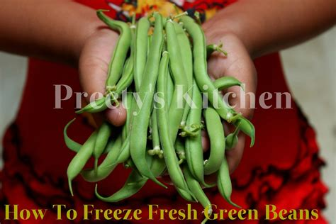 preety s kitchen how to freeze fresh green beans step by step pictures