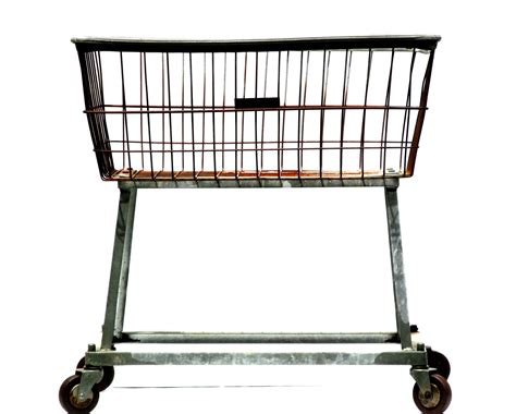 Industrial Laundry Cart Metal Wire Grid Basket On Wheels Large Laundry On Wheels