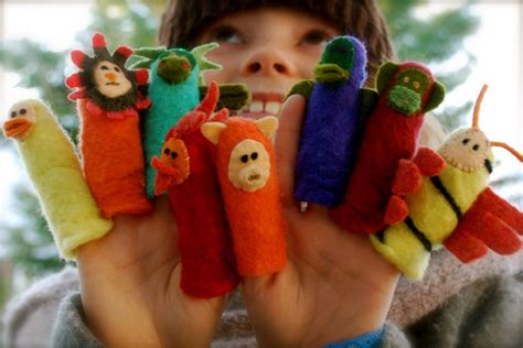 How To Make Handmade Puppets - how to felted finger puppets make