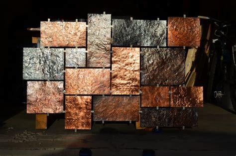 copper wall art home decor hammered copper wall art modern artwork milwaukee by fabitecture llc