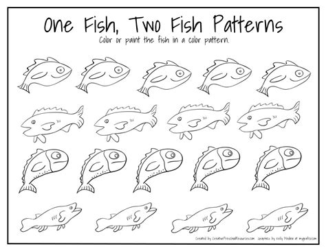 hopping pattern worksheet dr seuss birthday march 2nd fish patterns fish and