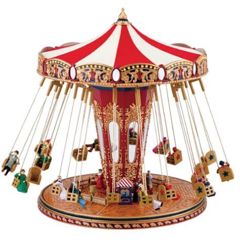 swing musical gold label world s fair swing carousel music box