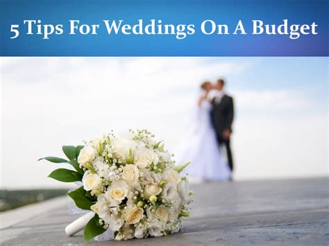 weddings on a budget 5 tips for weddings on a budget pdfsr