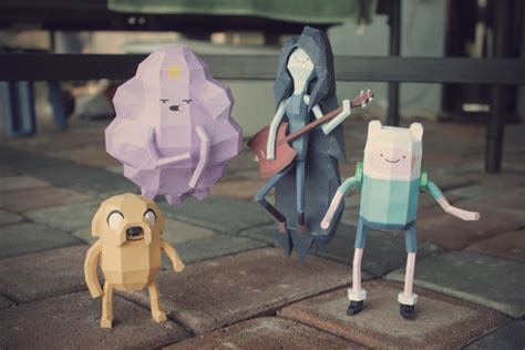 Adventure Time Paper Crafts - adventure time cubeecraft pictures