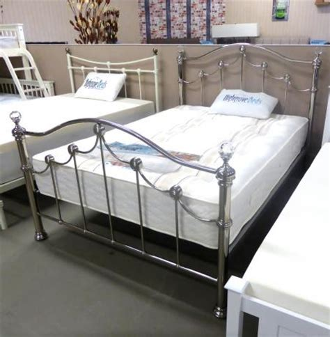crystal bed ontario chrome crystal metal bed frame furnimax brands
