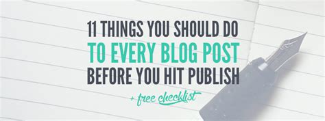 12 Things You Should Do Before You Hit 25 by 11 Things You Should Do To Every Post Before You Hit
