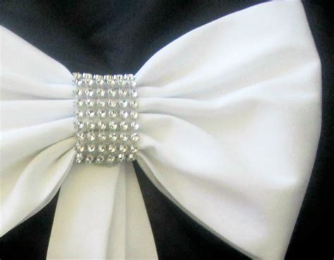 Wedding Aisle Bows by Pew Bows With Rhinestones Set Of 4 Pew Bows Pew