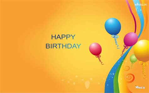 Happy birthday with colourful balloon hd wallpaper