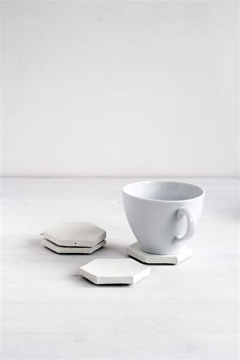 Hexagon Stacking Cup concrete hexagon coasters home decor pin