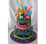 Neon Splatter Cake  By Susan Campbell CakesDecor