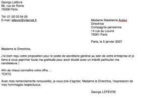 Un Exemple De Lettre Formelle En Français La Lettre Formelle La Renarde