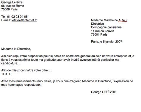 Ecrire Une Lettre De Demande De Visa la lettre formelle la renarde