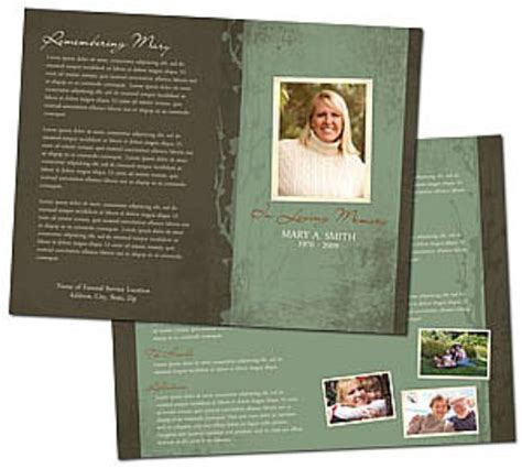 funeral bulletin templates funeral program template