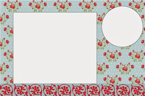 Wallpaper Sticker Dinding Tosca Bunga Flower Shabby Chic Vintage Cover shabby chic de rosas rojas en fondo celeste invitaciones