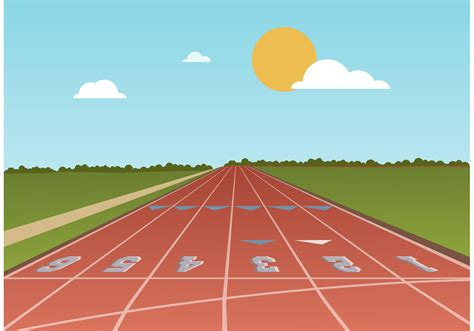 running track vector   vector art stock graphics images