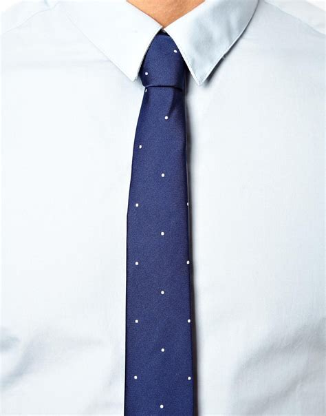 asos smart shirt and tie set save 25 in blue for lyst