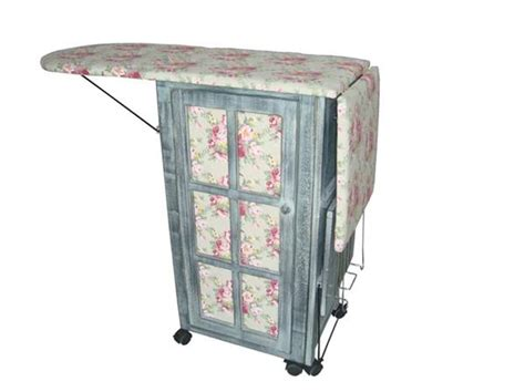 foldable ironing board in cabinet ironing day station shabby chic ironing board