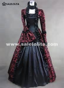 victorian gothic steampunk dress brocade long sleeve prom