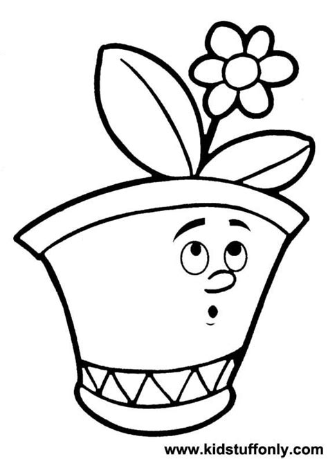 coloring pages of flowers in a pot free coloring pages of flower pot template
