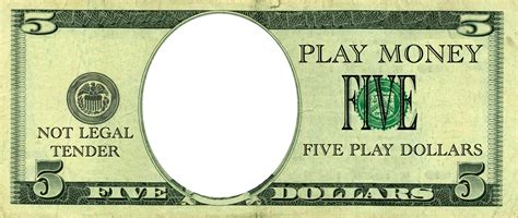 realistic play money templates free printable play money