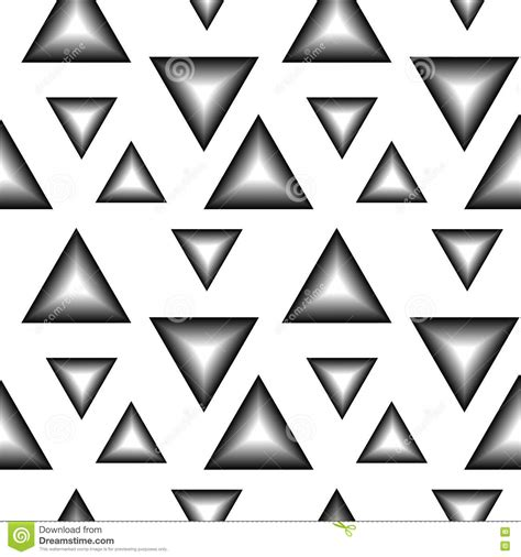 black and white triangle pattern the pattern of black and white triangles stock vector