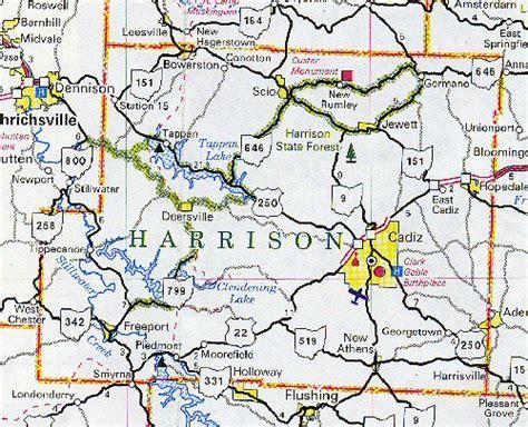 harrison county map harrison county map ohio ohio hotels motels