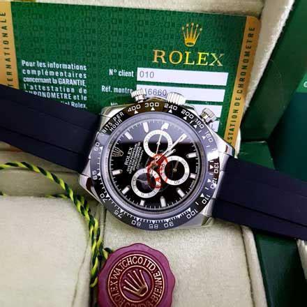 Rolex Plat Hitam jam tangan rolex daytona tali karet