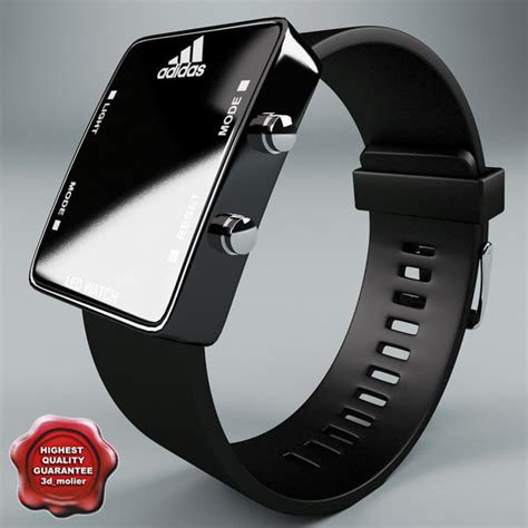 Jam Tangan Led Adidas Black adidas led black 3d model