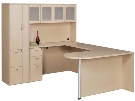U Desk With Hutch Furniture U Shaped Desk With Hutch And Decoration U Shaped Desk With Hutch Desk Office Depot