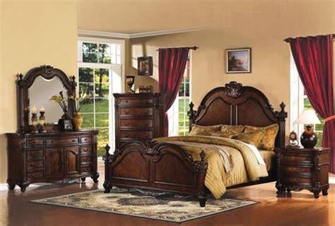 traditional bedroom furniture sets acme furniture remington brown 5 piece queen bedroom set