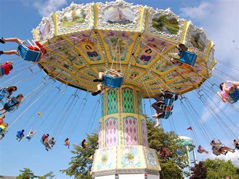 swings at amusement park wave swing adventureland amusement park long island new york