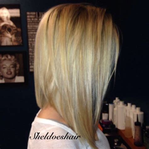 lob hairstyles 360 view 25 best ideas about long angled bob hairstyles on