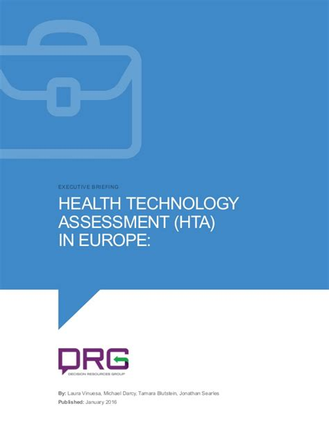 Mba Healthcare Management In Europe by Health Technology Assessment Hta In Europe