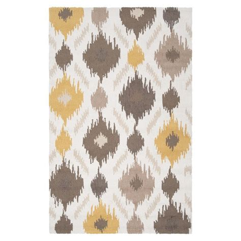 aspace rug gray and yellow design ideas